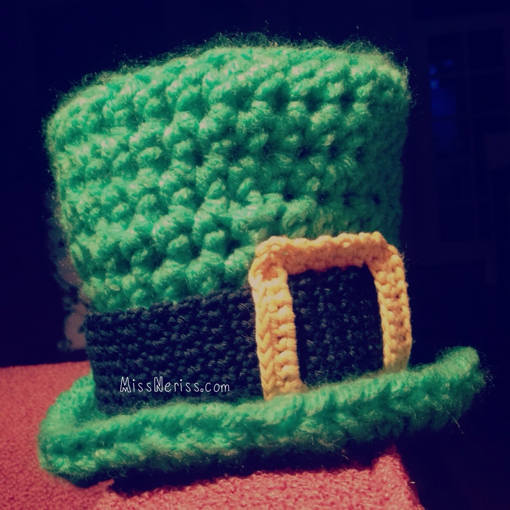 Crochet Pattern Leprechaun Hat : St Patrick s Day Baby Leprechaun Hat Pattern now Available ...