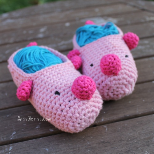 Little Piggy Slippers - free pattern