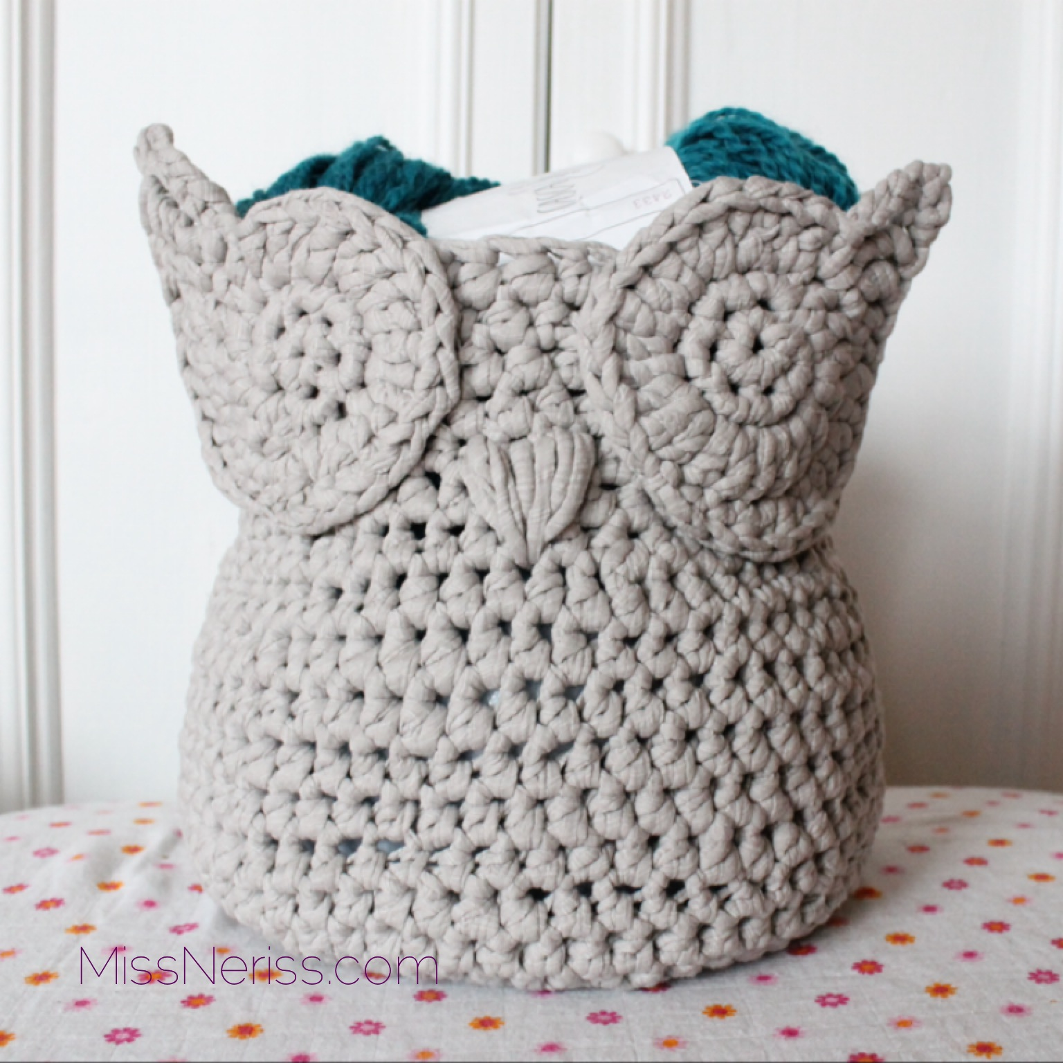 Free Crochet Patterns Owl Basket : tshirt yarn MissNeriss