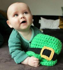 Baby leprechaun hat
