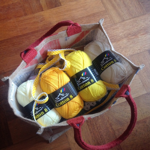 Scheepjeswol Cotton 8 in my favourite project bag #cotton8 #scheepjes