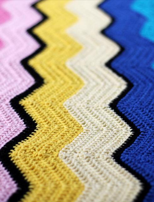 Haak Maar Raak's Vintage Ripple Blanket