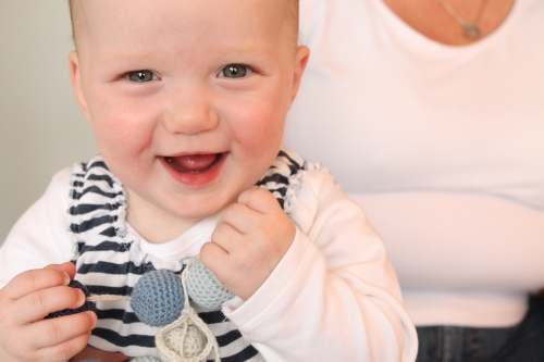 Babies can't resist Miniman's Nursing Necklace from missneriss.com