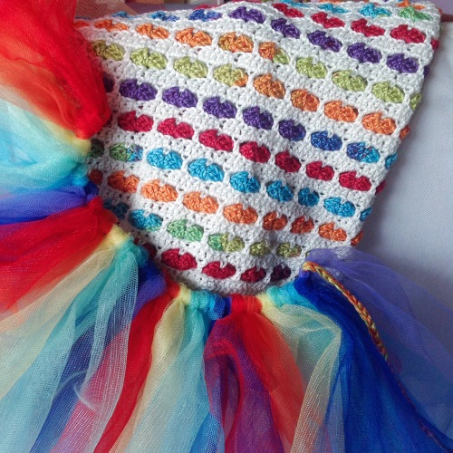 Rainbow tutu a design in progress, by MissNeriss
