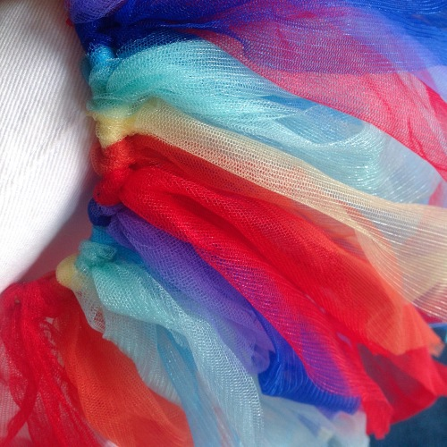 Rainbow tutu a design in progress, by MissNeriss