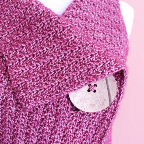 peek-a-boo Button crochet body warmer