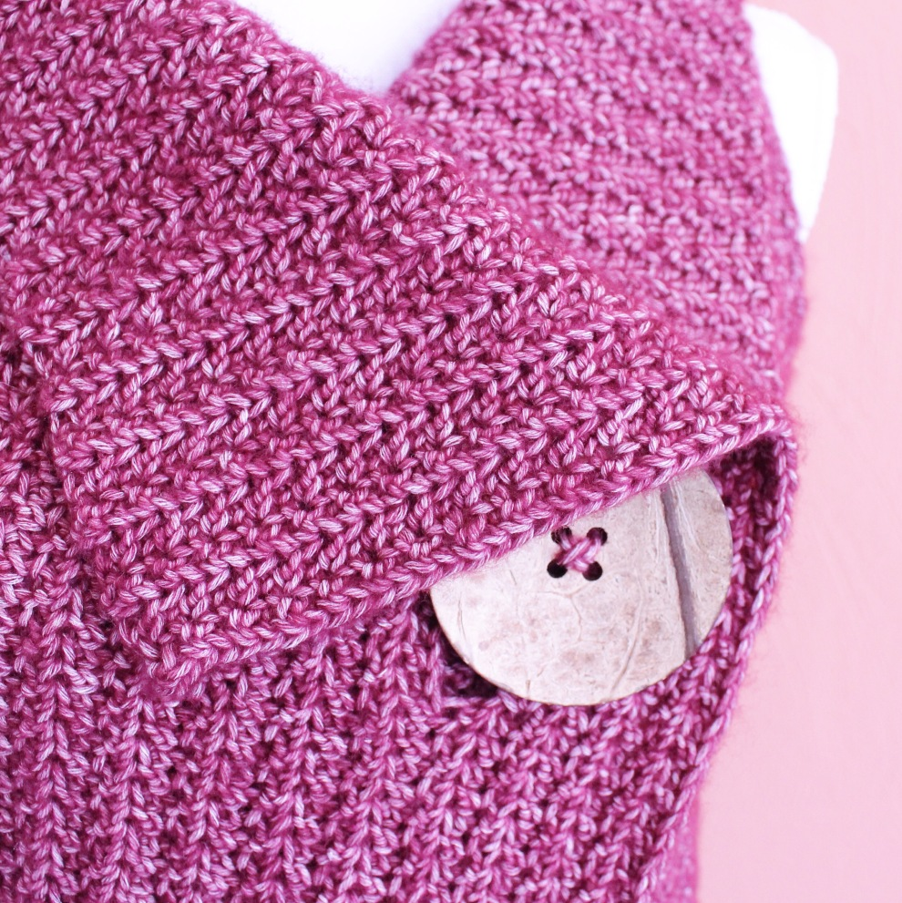 peek-a-boo Button crochet body warmer