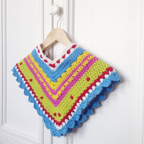 Green Gate inspired poncho made with Scheepjes Bloom