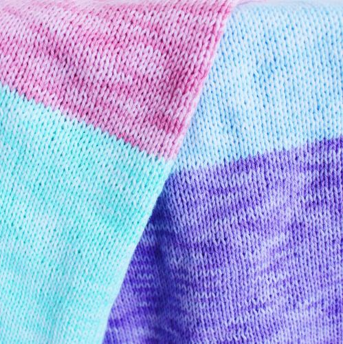 Colour Block Knit Blanket for Beginners using @Scheepjes Sunkissed by MissNeriss