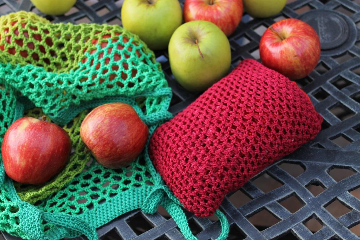 Image result for crochet bag filled with fruits