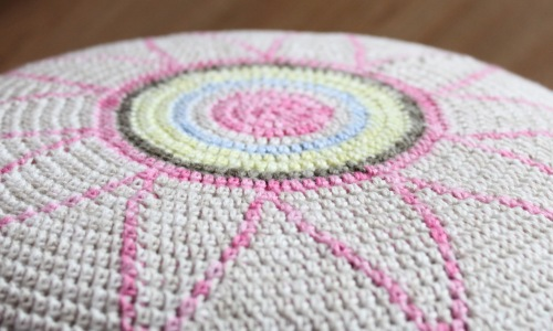 Tapestry crochet stool by missneriss