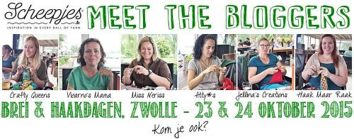 Meet the Scheepjes Bloggers at Breidag in Zwolle on the 23rd and 24th of October 2015!