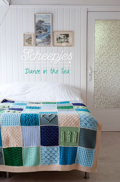 Scheepjes CAL 2016, Last Dance on the Beach. This is the beautiful Dance in the Sea colourway.