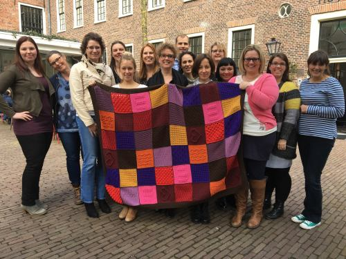 Scheepjes Blogger Tribe with the Dancing Under the Stars blanket for the Last Dance on the Beach CAL by Wink and friends from Scheepjes