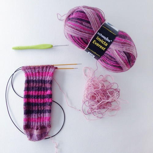 Sock One, with Scheepjes Invicta Everest