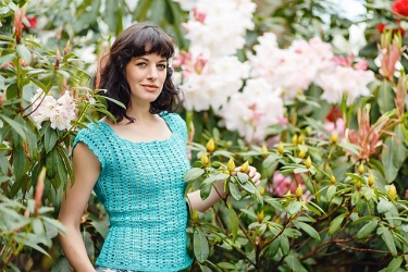 Green Agate Top by Annelies Baes. Yarn available here: http://tidd.ly/1849b2b8