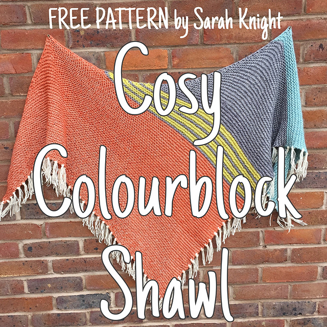 Cosy ColourBlock Shawl by Sarah Knight. Get the yarn here: http://tidd.ly/1849b2b8