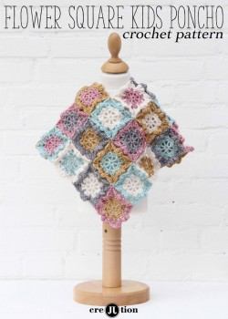 Flower Square Kids Poncho by Maaike van Koert. Yarn available here: http://shrsl.com/?bw5o