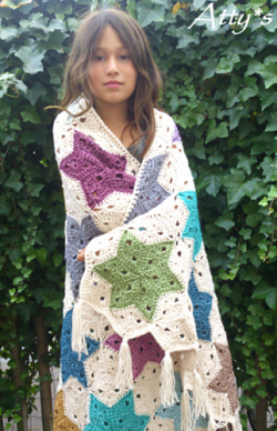 Star Blanket by Atty van Norel. Yarn available at http://tidd.ly/1849b2b8