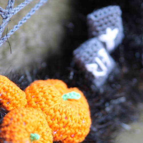 Halloween Wreath by @missneriss. Scheepjes Panda Sparkle available from http://bit.ly/woolwarehouse