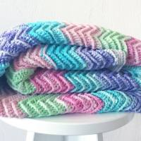 Textured Chevron Blanket - Free Crochet Pattern