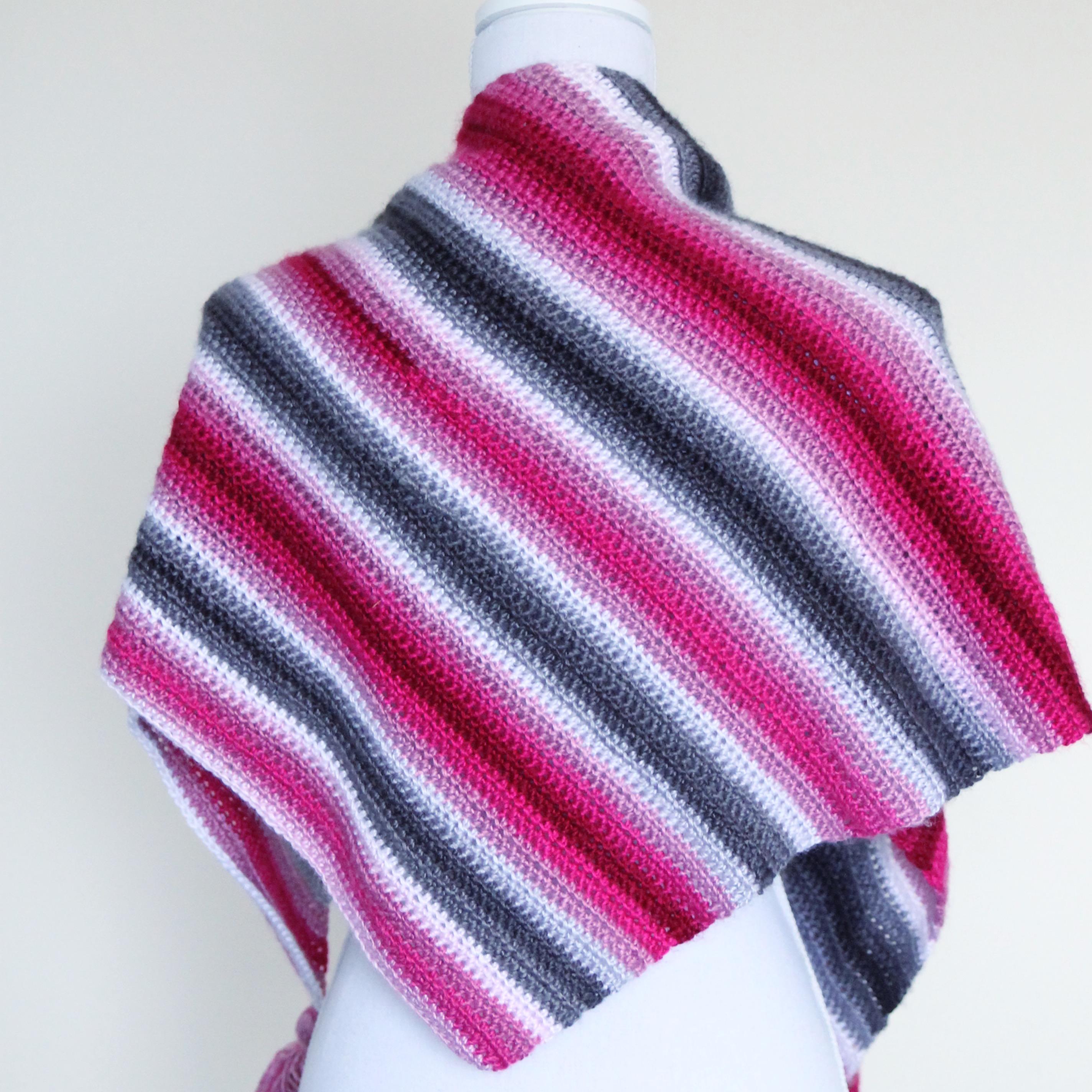 Cherry Blossom shawl, free crochet pattern