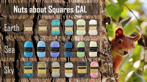 Nuts About Squares CAL colour packs in Earth, Sea and Sky