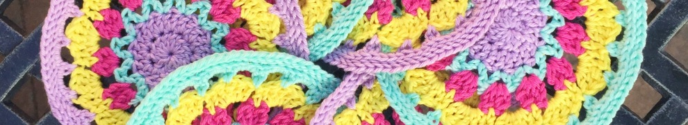 Spring crochet motif by @missneriss using Scheepjes Catona, available from Wool Warehouse http://bit.ly/wwcatona