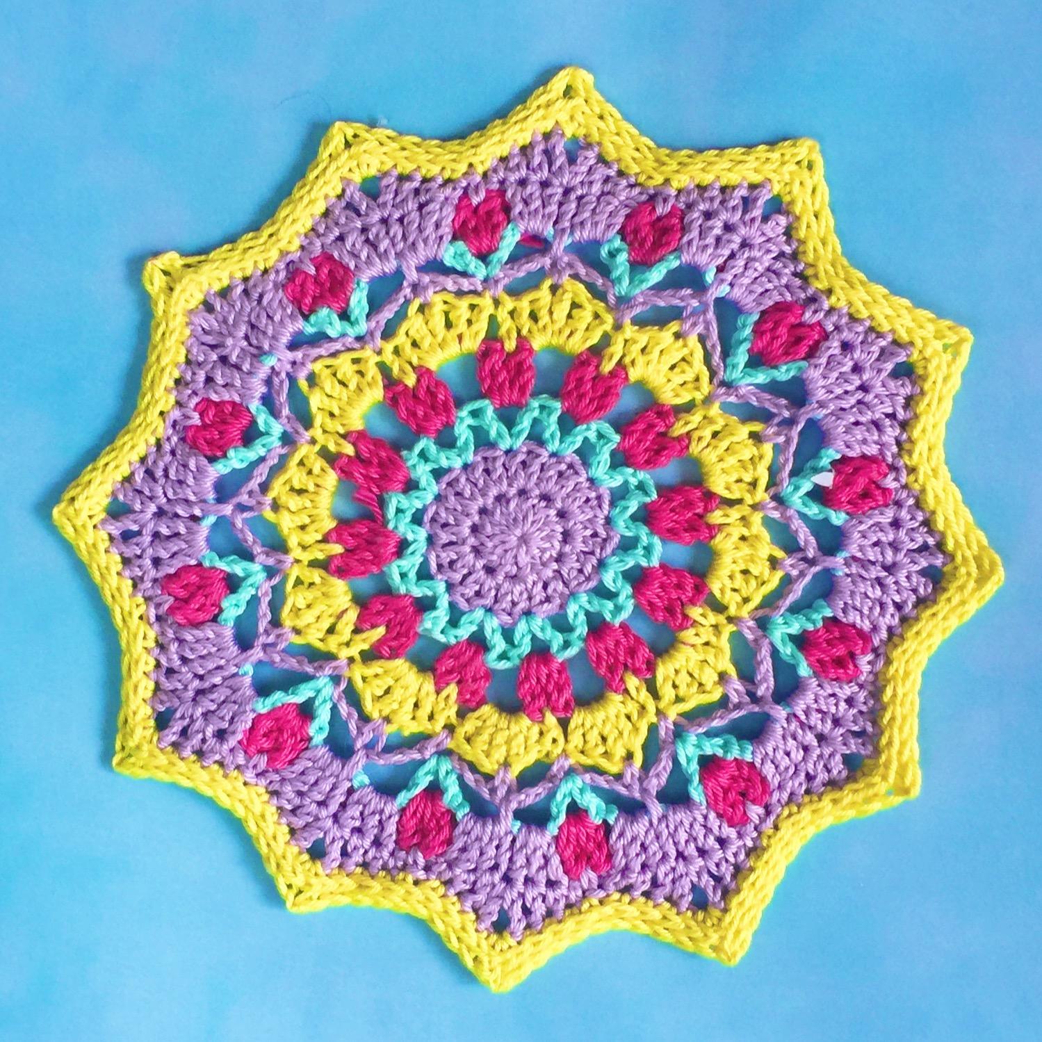 spring motif doily