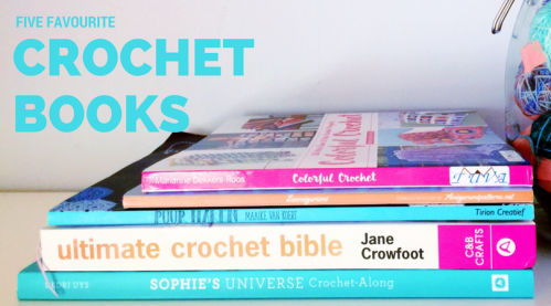 Five Favourite Crochet books including: Ultimate Crochet Bible, Sophie's Universe, Puur Haken, Colorful Crochet, and Zoomigurumi. See more at missneriss.com