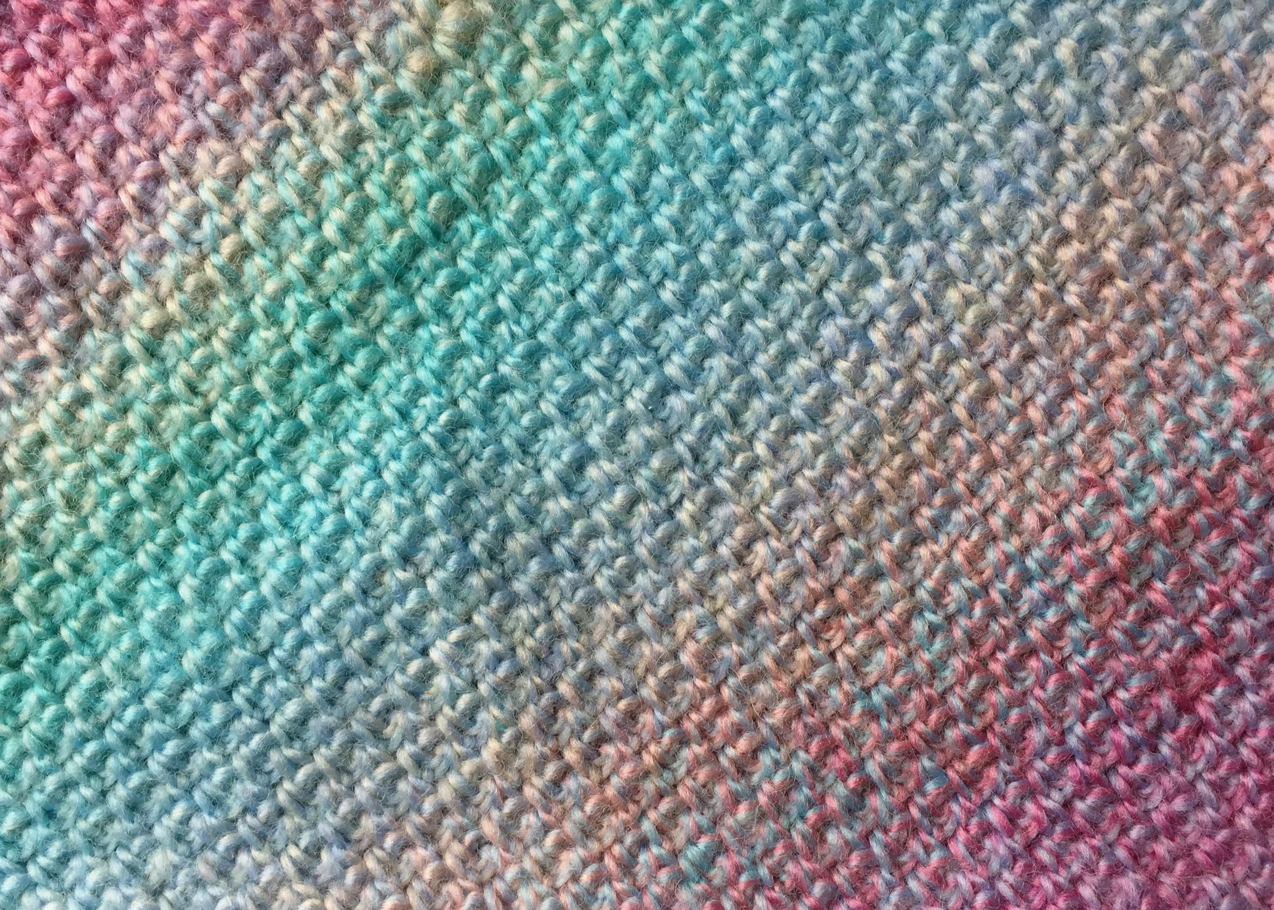 MissNeriss (966) colourway in Our Tribe yarn from Scheepjes. 70% merino superwash, 30% polyamide fingering weight, 420m per 100g