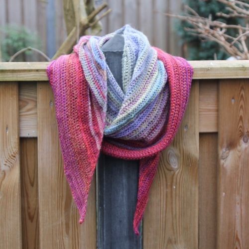 Our Tribe My Tribe (fade) shawl by Nerissa Muijs