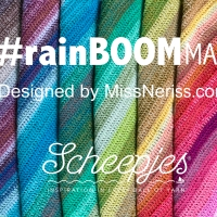 rainBOOM! Wrap - Crochet Pattern with UK Terms