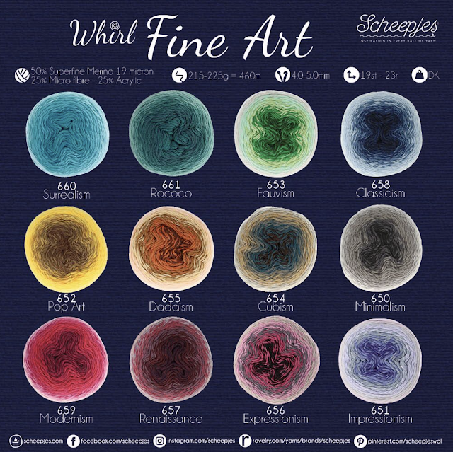 whirl fine art shade card