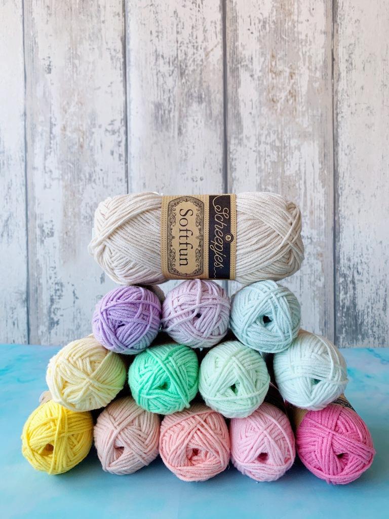 close up of yarn balls