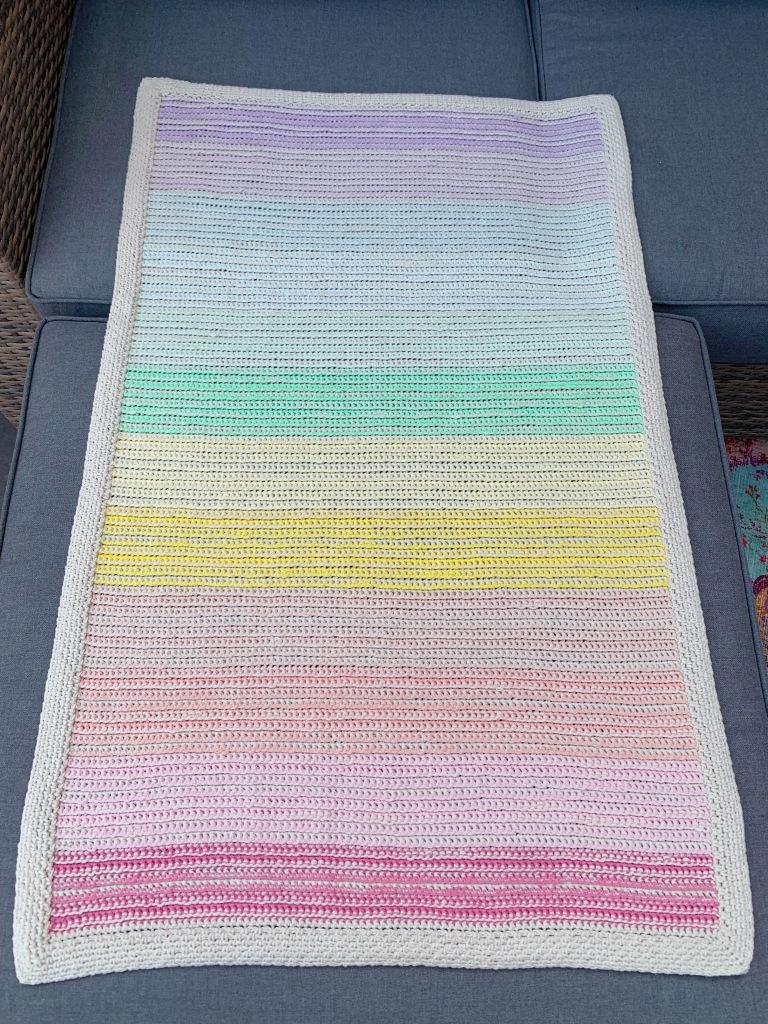 Crochet blanket from above