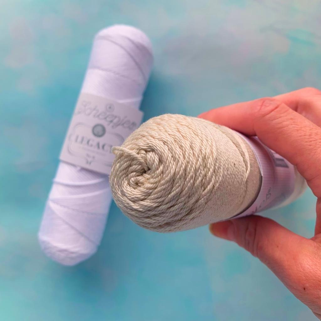 close up of legacy yarn